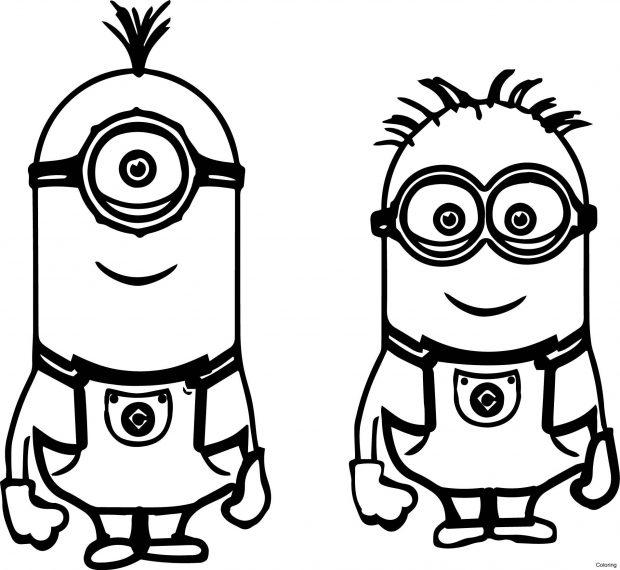 Nhân vật hoạt hình minion ngộ nhĩnh cho bé tập tô