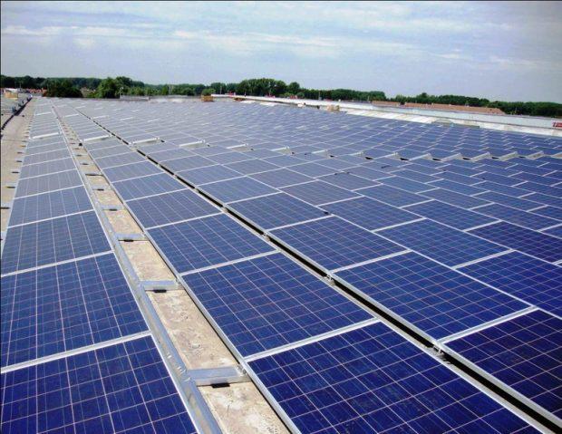 Thẩm mỹ lắp đặt hệ thống năng lượng măt trời