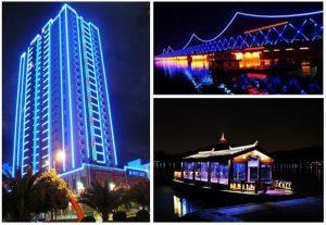 đèn led tran trí cho công trình kiến trúc