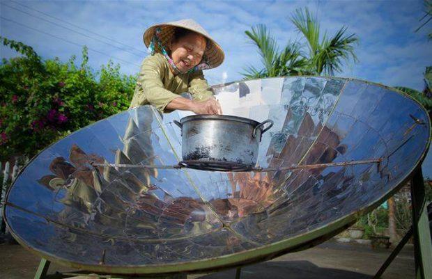 Bếp năng lượng mặt trời
