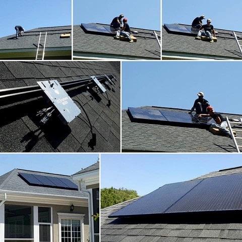 Các bước cài đặt tấm pin năng lượng mặt trời