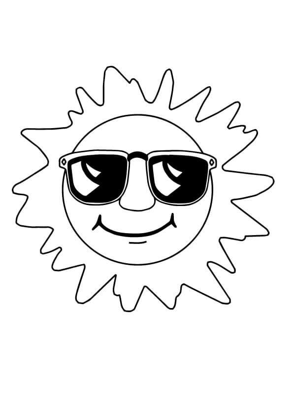 Tranh tô màu cho bé ông mặt trời