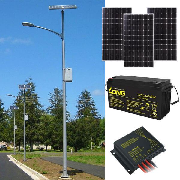 hệ thống của bộ đèn led pha năng lượng mặt trời